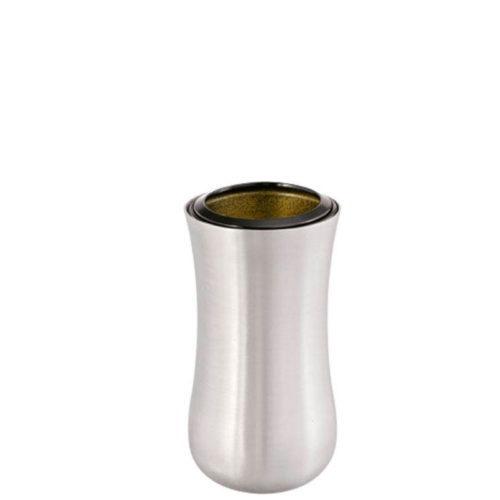 Vase 0800 i rustfritt stål fra Gravstein Grossisten