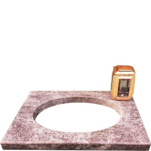 Bedplate til gravstein i granitt fra Gravstein Grossisten