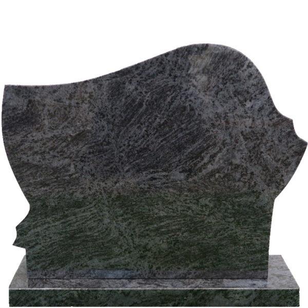 Gravstein Anima i orion blå granitt bak