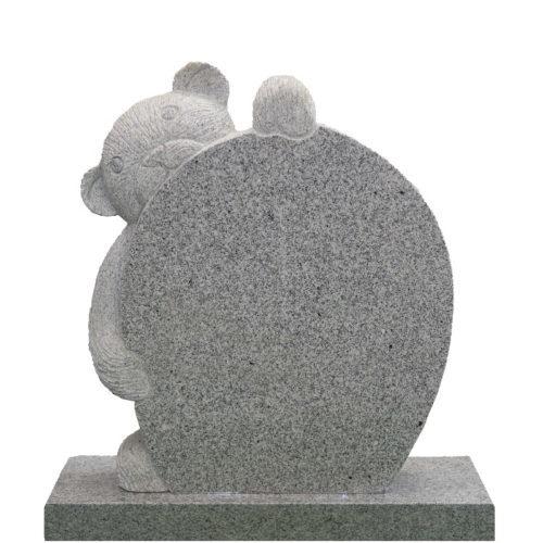 Gravstein Complexus i lys grå granitt fra Gravstein Grossisten
