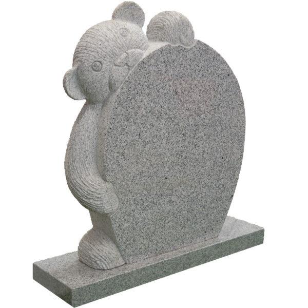 Gravstein lys grå Complexus bamse gravstein venstre