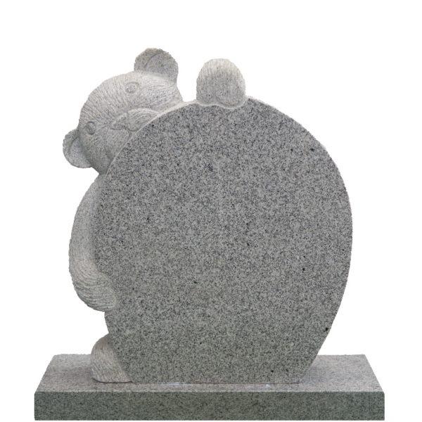 Gravstein lys grå Complexus bamse gravstein front