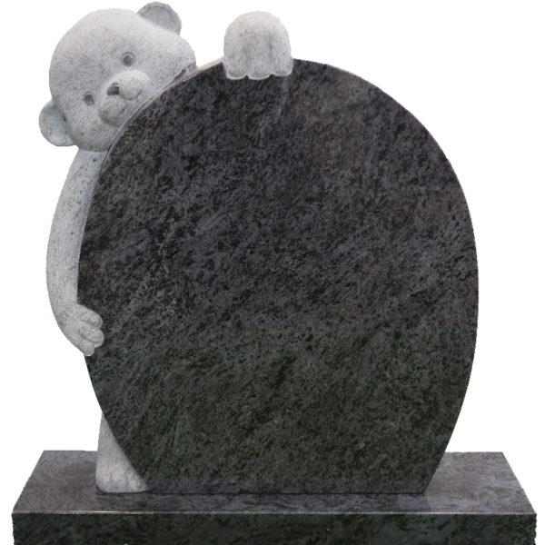 Gravstein Complexus i orion blå granitt front
