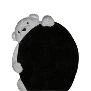 Gravstein Complexus i sort granitt front