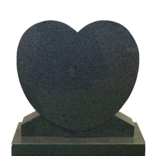 Gravstein Cor i mørk grå granitt fra Gravstein Grossisten