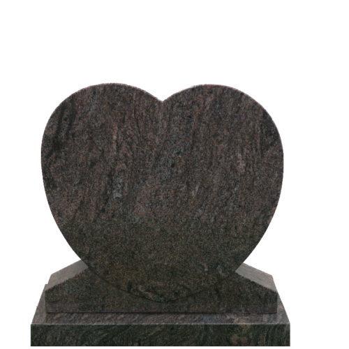 Gravstein Cor i rødbrun granitt fra Gravstein Grossisten