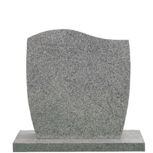 Gravstein Facilius i lys grå granitt fra Gravstein Grossisten