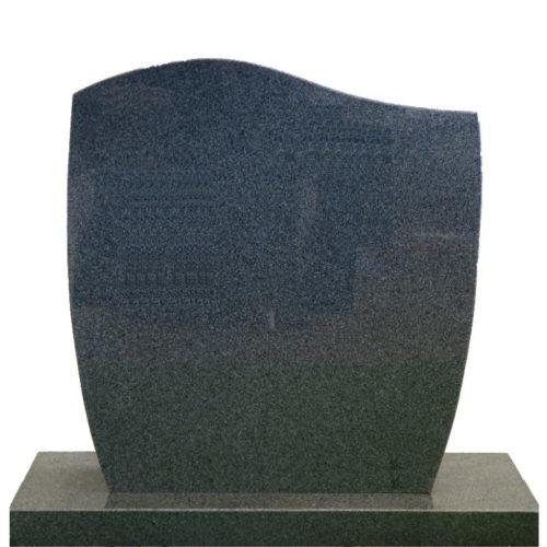 Gravstein Facilius mørk grå i granitt fra Gravstein Grossisten