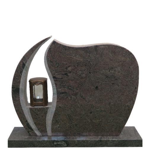 Gravstein Ignis i rødbrun granitt fra Gravstein Grossisten