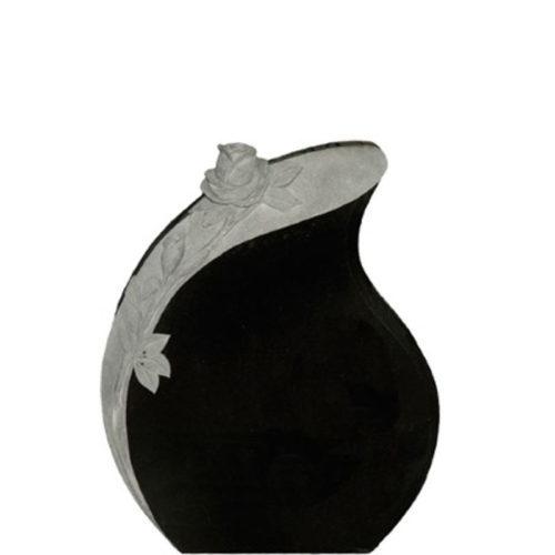 Gravstein Lacrima i sort granitt fra Gravstein Grossisten