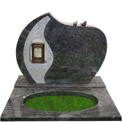 Gravstein Lucerna i orion blå granitt fra Gravstein Grossisten