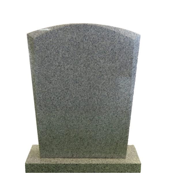 Gravstein Micat i lyss grå granitt front