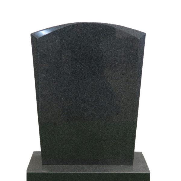 Gravstein Micat i mørk grå granitt, skrå