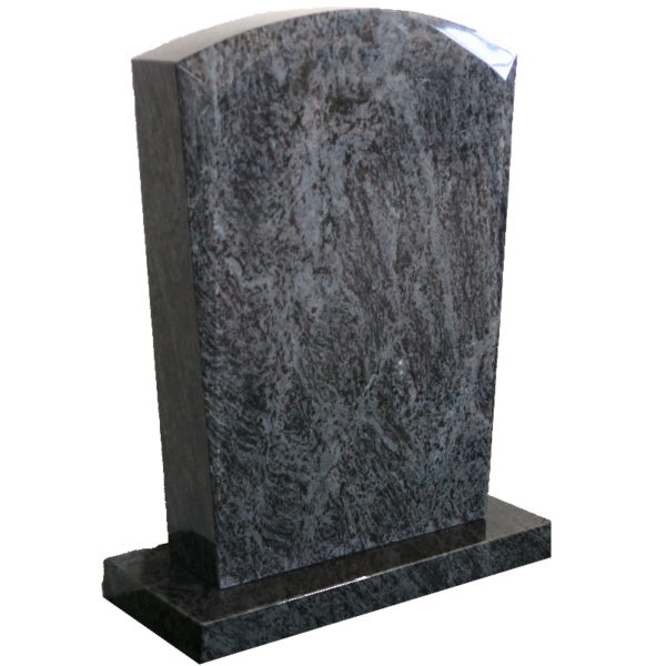 Gravstein Micat i orion blå granitt skrå