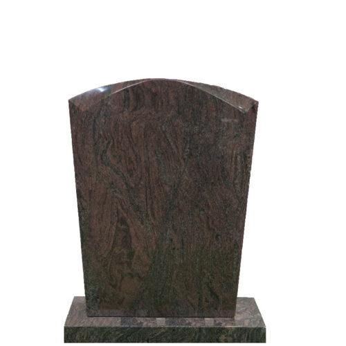 Gravstein Micat i rødbrun granitt fra Gravstein Grossisten