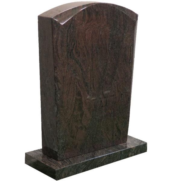 Gravstein Micat rødbrun granitt skrå