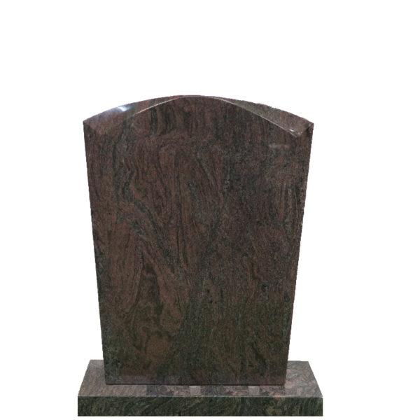 Gravstein Micat rødbrun granitt front