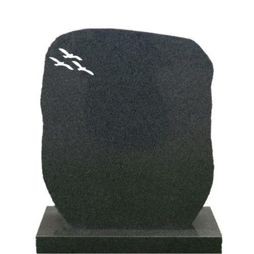 Gravstein Montes i mørk grå granitt fra Gravstein Grossisten