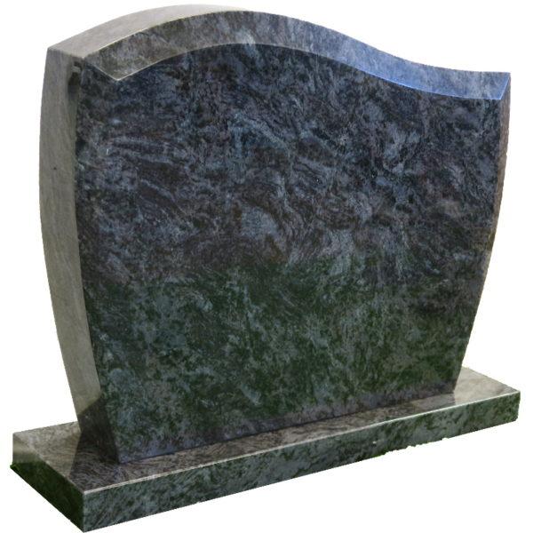 Gravstein Pacem i orion blå granitt skrå