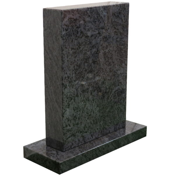 Gravstein Parva i orion blå granitt skrå