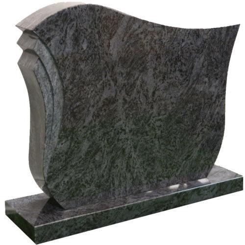 Gravstein Pulchra i orion blå granitt fra Gravstein Grossisten