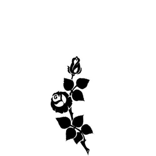 Gravert rose fra Gravstein Grossisten
