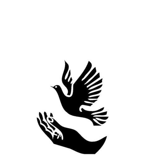 Gravert fugl over hånd fra Gravstein Grossisten