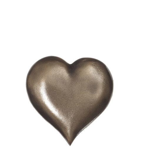 Hjerte i bronse fra Gravstein Grossisten