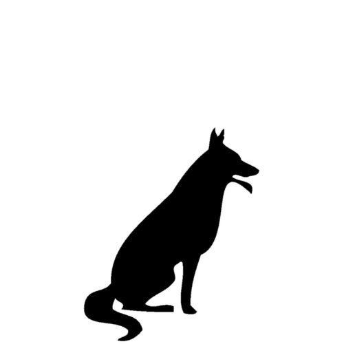 Gravert hund fra Gravstein Grossisten