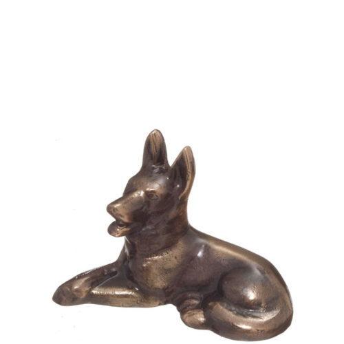 Hund i bronse fra Gravstein Grossisten