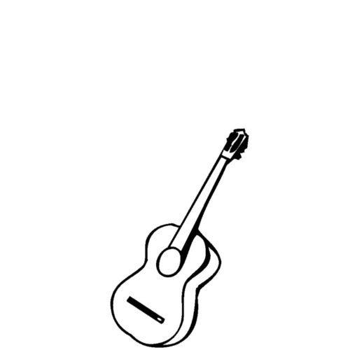 Gravert gitar til gravstein fra Gravstein Grossisten