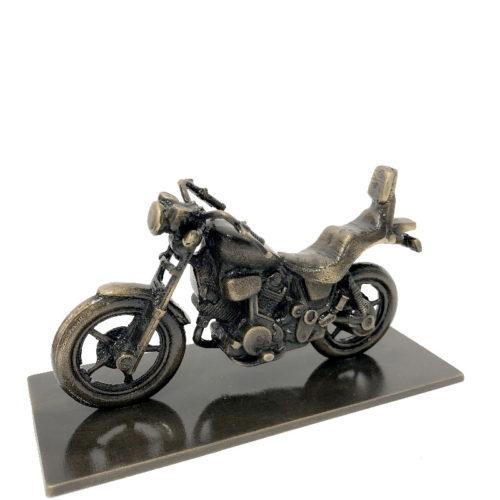 Motorsykkel i bronse fra Gravtein Grossisten