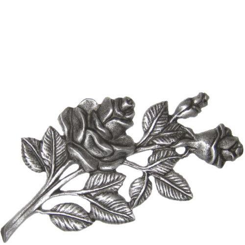 Gravstein tilbehør rose 6153 i aluminum fra Gravstein Grossisten
