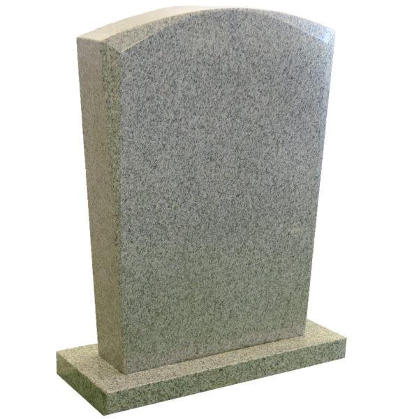 Gravstein Micat i lys grå granitt skrå