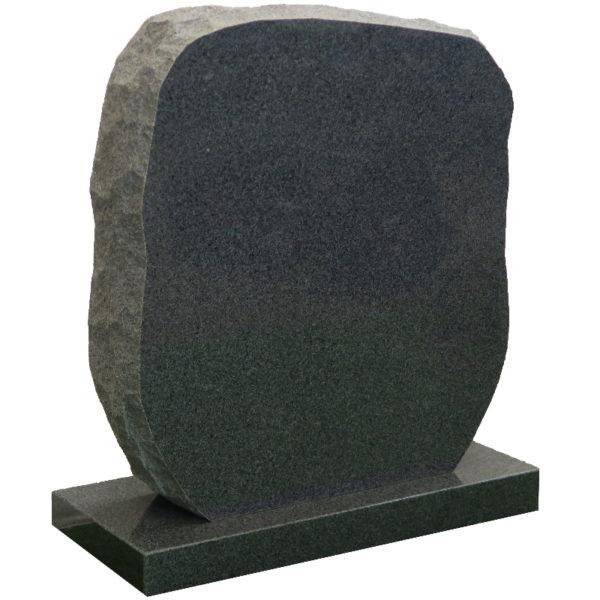 Gravstein Montes i mørk grå granitt venstre