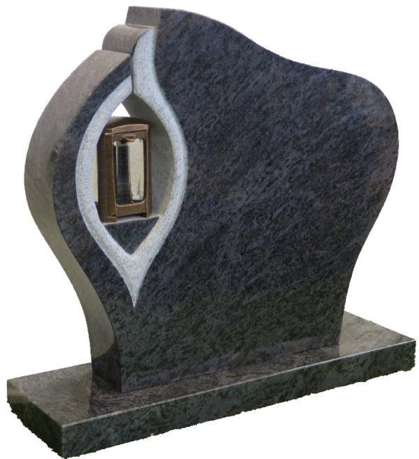 Gravstein Ornate i orion blå granitt venstre