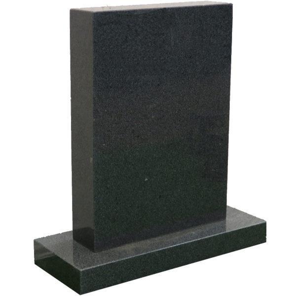 Gravstein Parva i mørk grå granitt skra