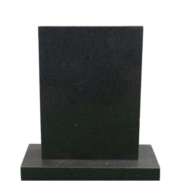 Gravstein Parva i mørk grå granitt front
