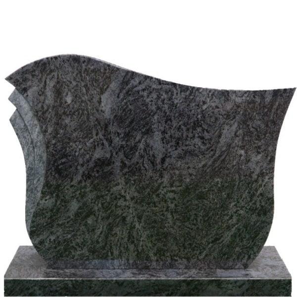 Gravstein Pulchra i orion blå granitt front