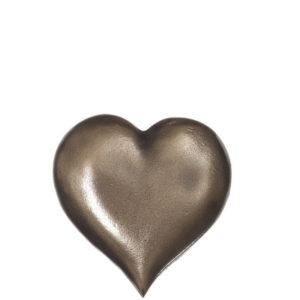 Hjerte i bronse til gravstein