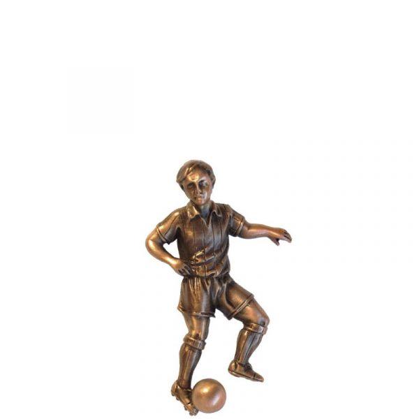 Fotballspiller i bronse fra Gravstein Grossisten