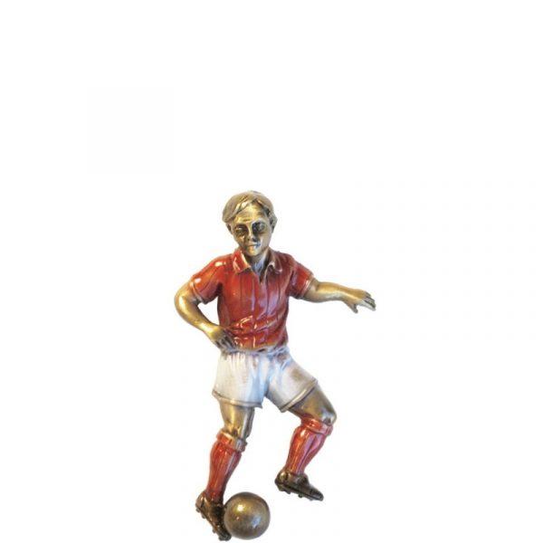 Fotballspiller i rød fra Gravstein Grossisten