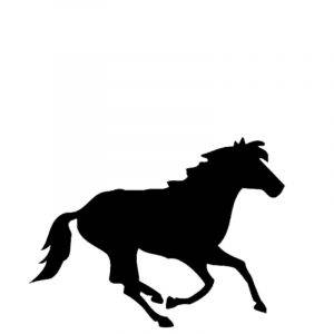 Gravert hest fra Gravstein Grossisten