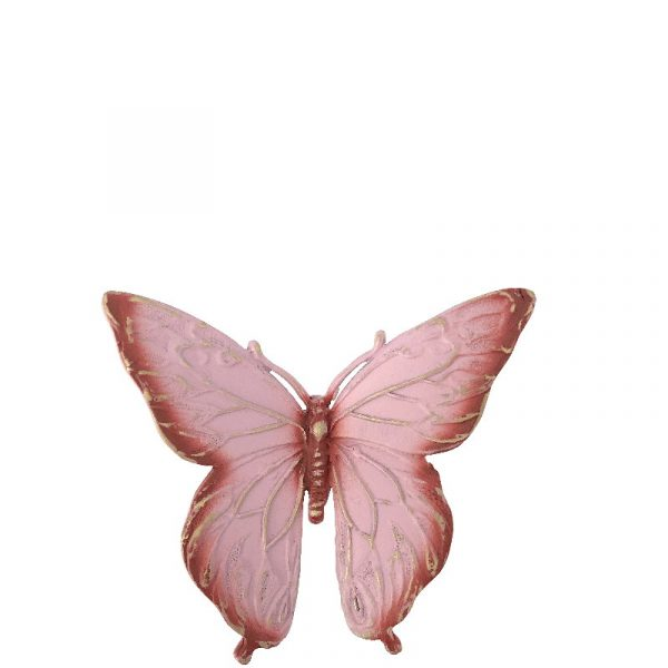 Sommerfugl rosa fra Gravstein Grossisten